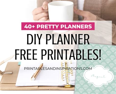 A5 Planner / Half Size Printable Planner - Printables and