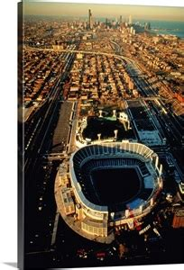 Aerial view of Old Comiskey Park, New Comiskey Park