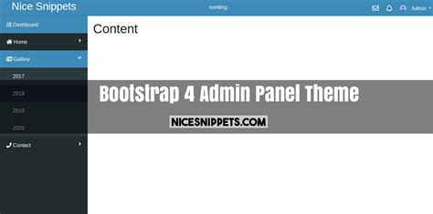 Bootstrap 4 Admin Panel Dashboard Design