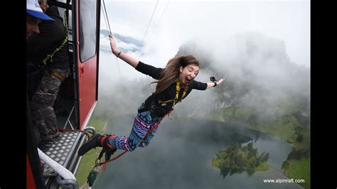 Bungee Jump from a Cable Car in Stockhorn, Switzerland